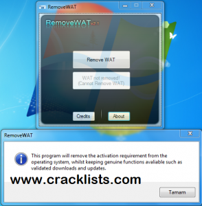 RemoveWAT 2.2.5 Windows 7 Activator Loader Full Version Download