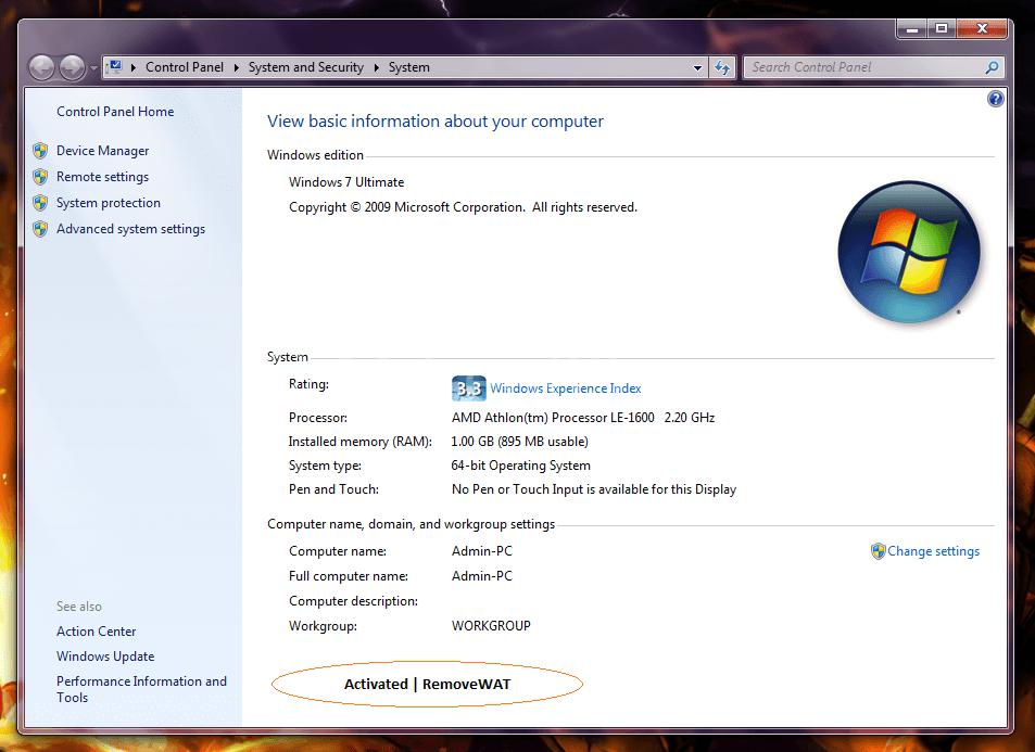 Removewat 2.2.9 Windows 7, 8, 8.1 Activator Full Download