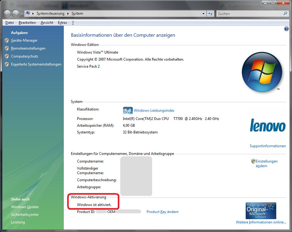 how to find registration key in windows 7