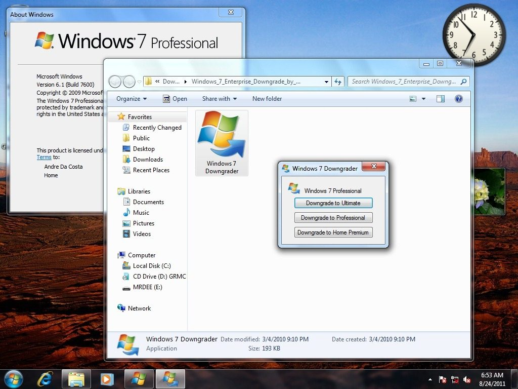 how to  windows 7 professional 64 bit without product key