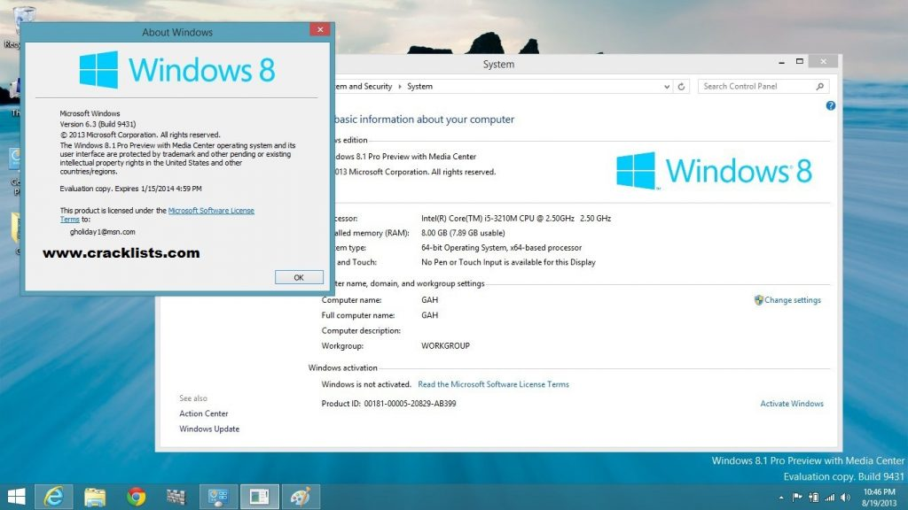 Windows 8.1 Pro Build 9600 Permanent Activator KMS Full