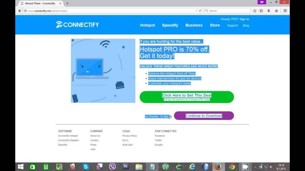 Connectify Hotspot Pro 2016 License Key Free