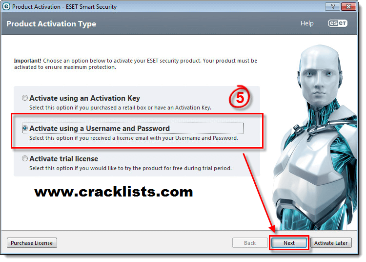 Eset Smart Security 8 Username and Password Till 2017