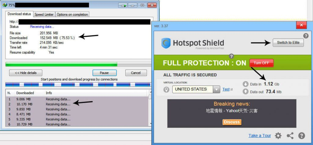 Hotspot Shield VPN Elite 5.20.2 Working