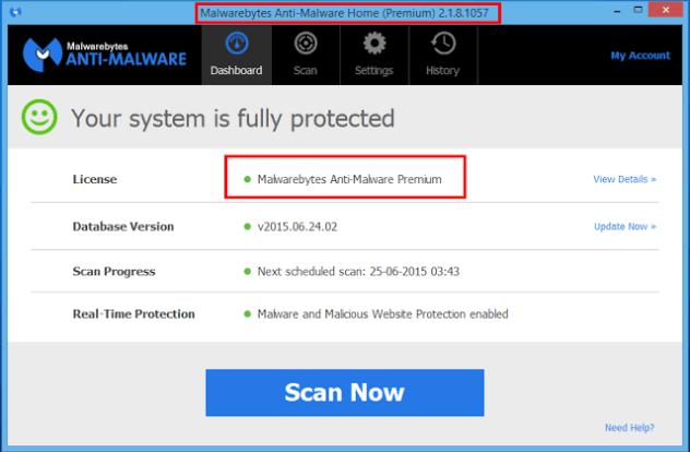Malwarebytes Anti-Malware Premium 2.2.0.1024 Serial Keys [Latest]
