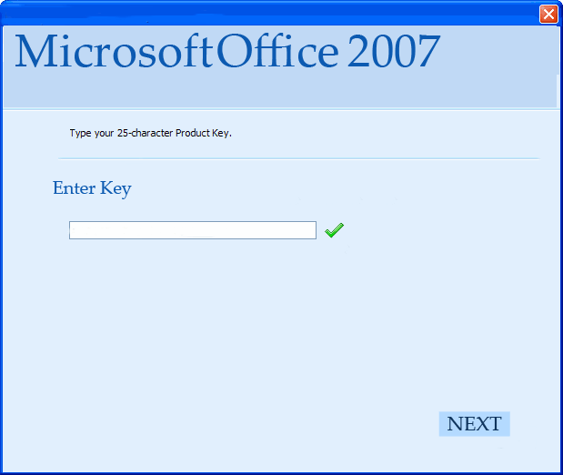 Microsoft Office Professional plus 2007 Working Product Key