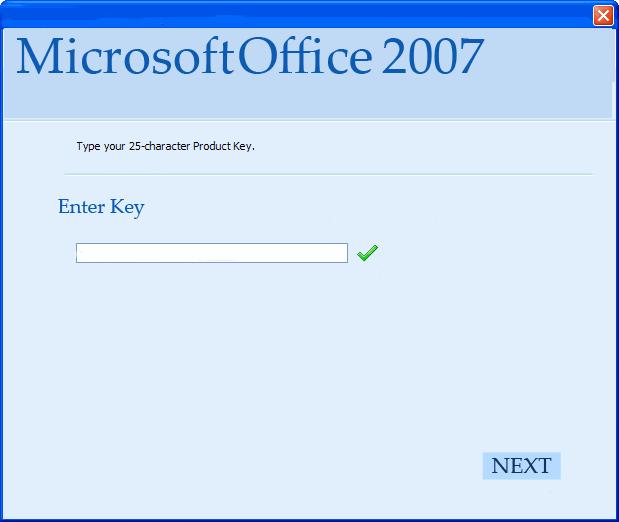 Microsoft Office Professional plus 2007 Working Product Key