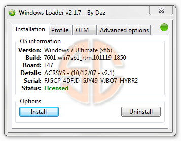 Windows 7 Loader By DAZ 2.2.2 Final Free