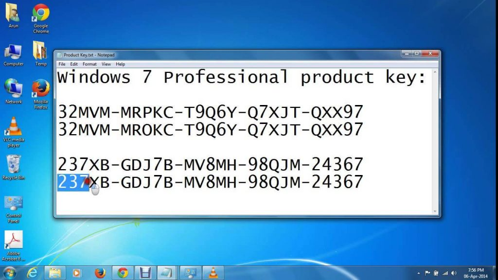 Windows 7 product key generator free download 32 64 bit for Window 7 ultimate product key