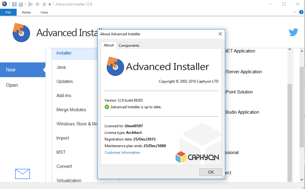 Advanced Installer Architect 13 Serial key Free Download