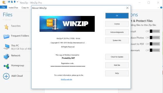 WinZip Pro v20 Registration Code