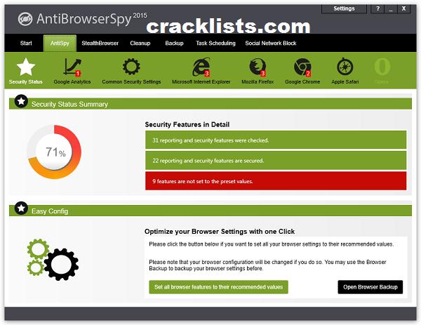 AntiBrowserSpy Pro 2016 Crack