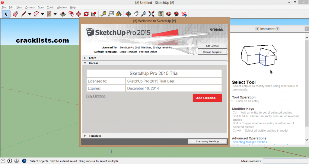 Google SketchUp Pro 2016 Crack License Key