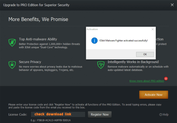 IObit Malware Fighter Pro Keygen