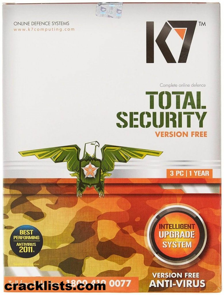 K7 Total Security Activation Key 2016 Crack