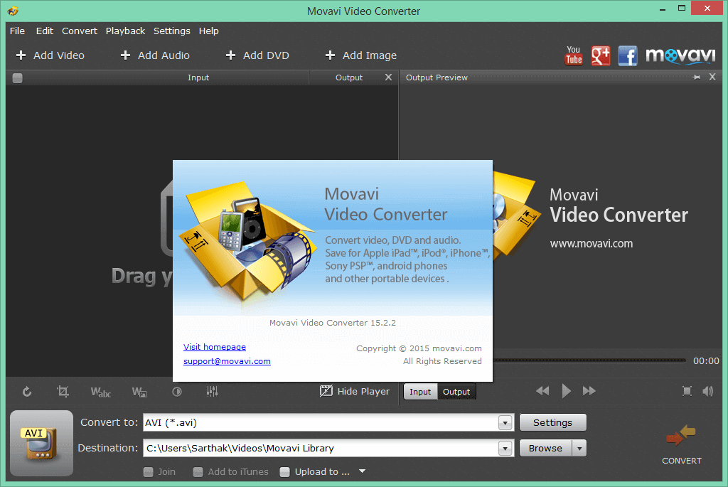 Movavi Video Converter 16.0.2 crack