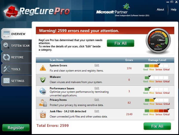 Regcure Pro Free License Key Free Download