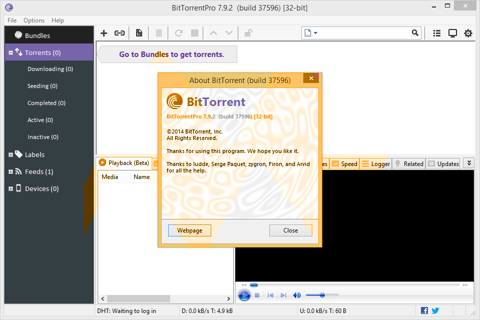 BitTorrent Pro v7.9.5 serial key